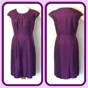 Banana Republic Purple Silk Cap Sleeve Dress